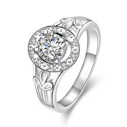 Petite Classic Stone Circular Emblem Ring Size 8 - Thumbnail 0