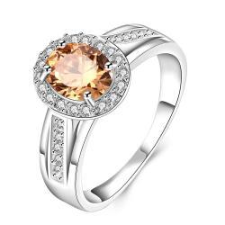 Orange Citrine Jewels Covering Petite Ring Size 8 - Thumbnail 0