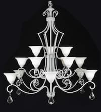 Wrought Iron Chandelier Lighting With Crystal H51 x W49