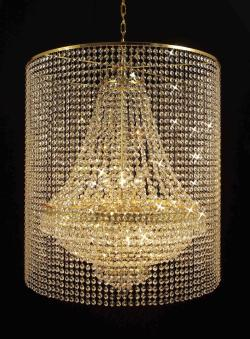 Empire Crystal Chandelier Lighting With 9 Lights - Thumbnail 0