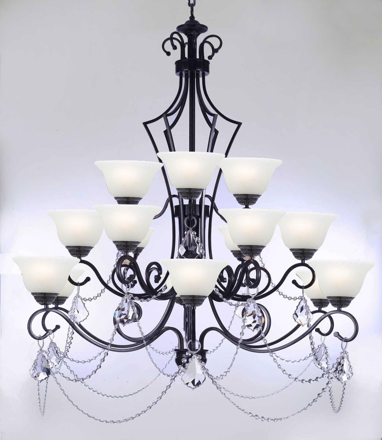Wrought Iron Chandelier Lighting Empress Crystal Chandelier Lighting