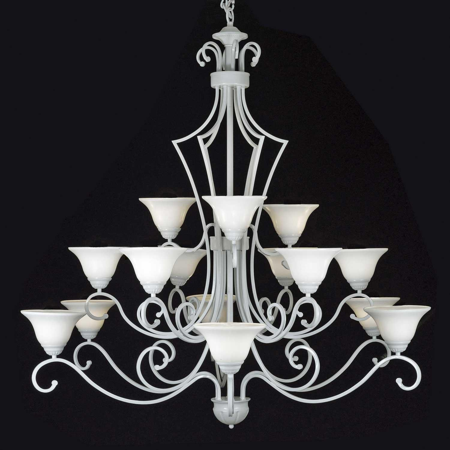 Entryway Foyer Wrought Iron Chandelier Lighting H51 x W49