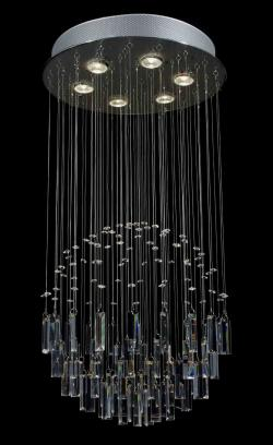 Modern Contemporary *Rain Drop* Crystal Chandelier Lighting With Faceted Crystal Balls - Thumbnail 0