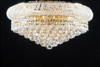 Flush Empire Crystal Chandelier Lighting H15 x W24