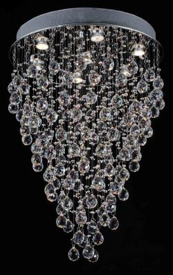 Modern Contemporary*Rain Drop* Chandelier Lighting With Faceted Crystal Balls - Thumbnail 0