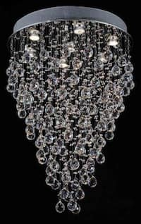 Modern Contemporary*Rain Drop* Chandelier Lighting With Faceted Crystal Balls