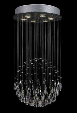 Modern Contemporary *Rain Drop* Crystal Chandelier Lighting With Faceted Crystal Balls
