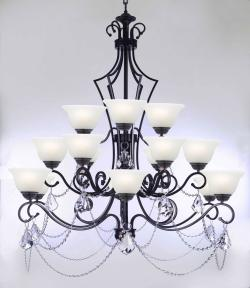 Wrought Iron Chandelier Lighting Empress Crystal Chandelier Lighting - Thumbnail 0