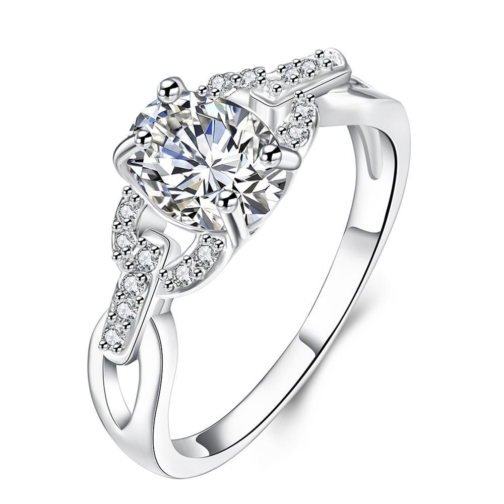 Vienna Jewelry Petite Crystal Stone Swirl Petite Ring Size 7