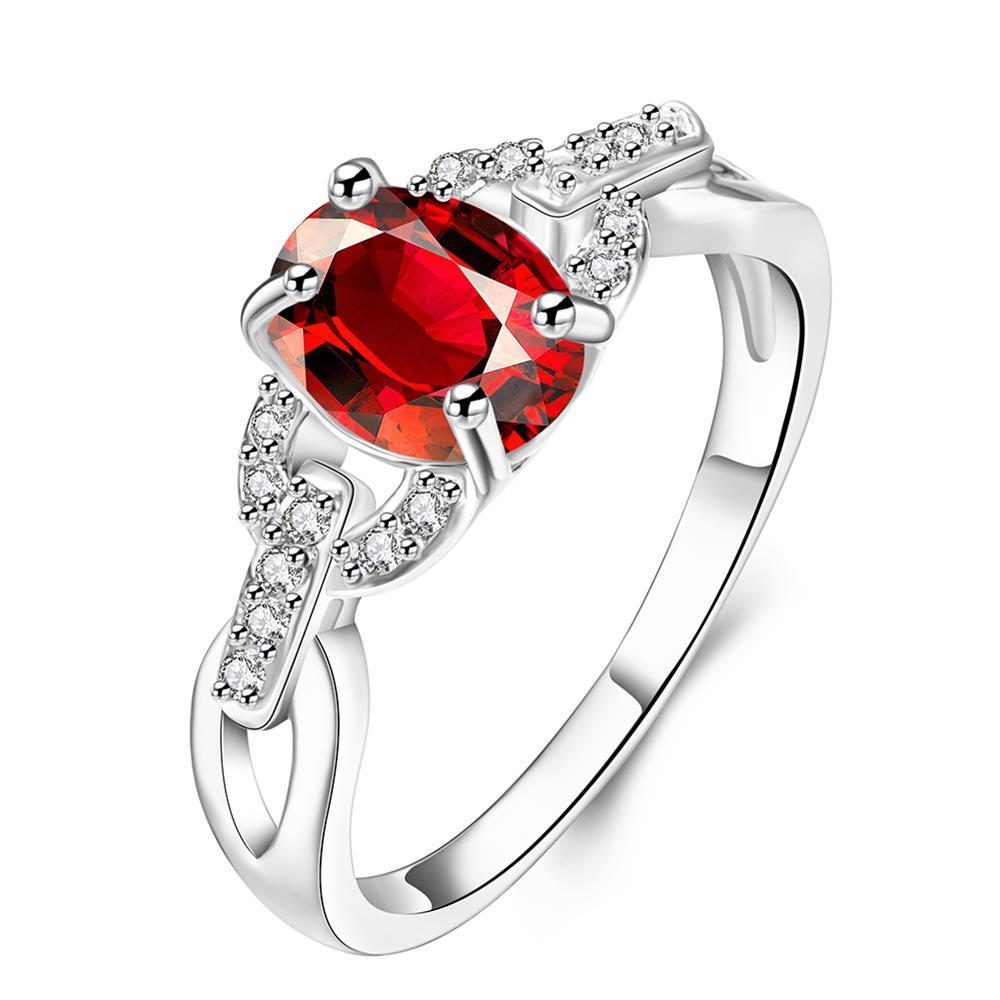 Petite Ruby Red Swirl Jewels Petite Ring Size 8