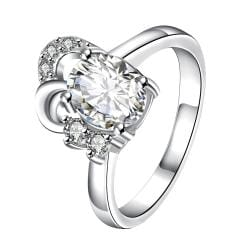 Petite Classic Crystal Curved Jewels Covering Classic Ring Size 8 - Thumbnail 0