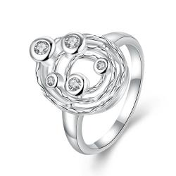 Classic Crystal Petite Gems Swirl Emblem Ring Size 7 - Thumbnail 0