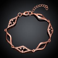 Vienna Jewelry Rose Gold Plated Diamond Cut Bracelet - Thumbnail 0