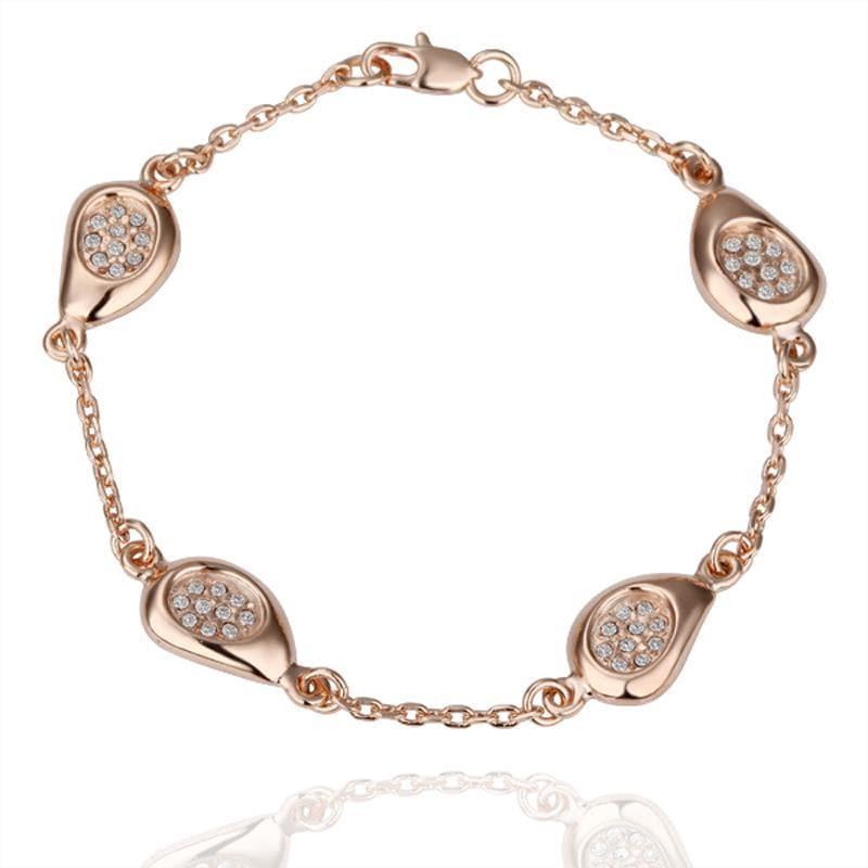 Vienna Jewelry 18K Gold Circular Emblem Bracelet with Austrian Crystal Elements