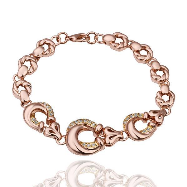 Vienna Jewelry 18K Gold Round Circle Loops Bracelet with Austrian Crystal Elements