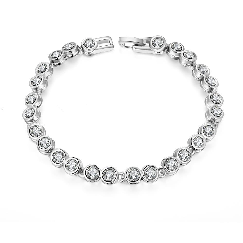 Vienna Jewelry Around the World 18K White Gold Plated Bracelet