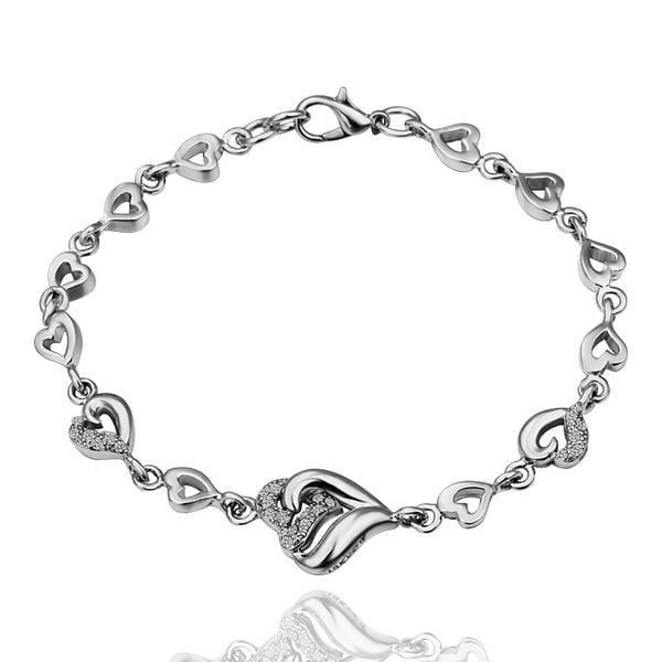 Vienna Jewelry 18K White Gold Angular Shape Emblem with Austrian Crystal Elements