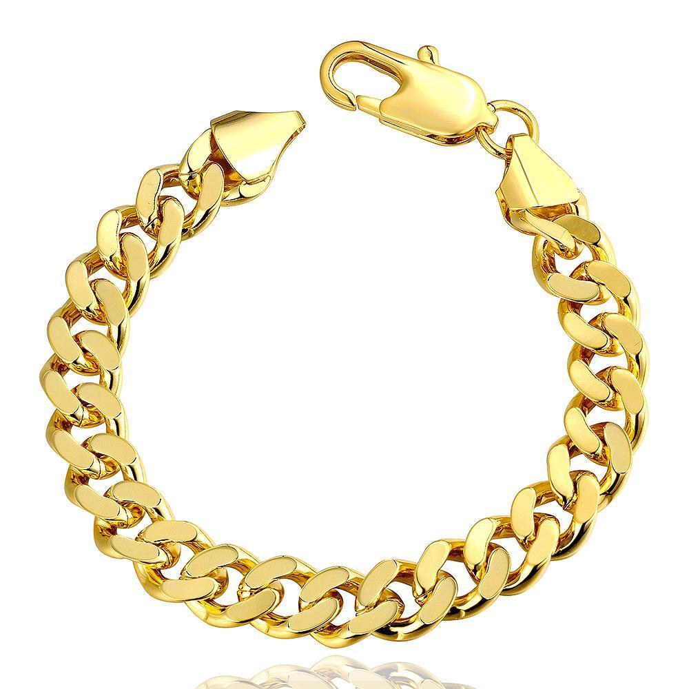 Vienna Jewelry 18K Gold Classic Men's Bracelet with Austrian Crystal Elements