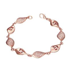 Vienna Jewelry Rose Gold Plated European Intertwined Matrix Bracelet - Thumbnail 0