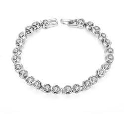 Vienna Jewelry Around the World 18K White Gold Plated Bracelet - Thumbnail 0