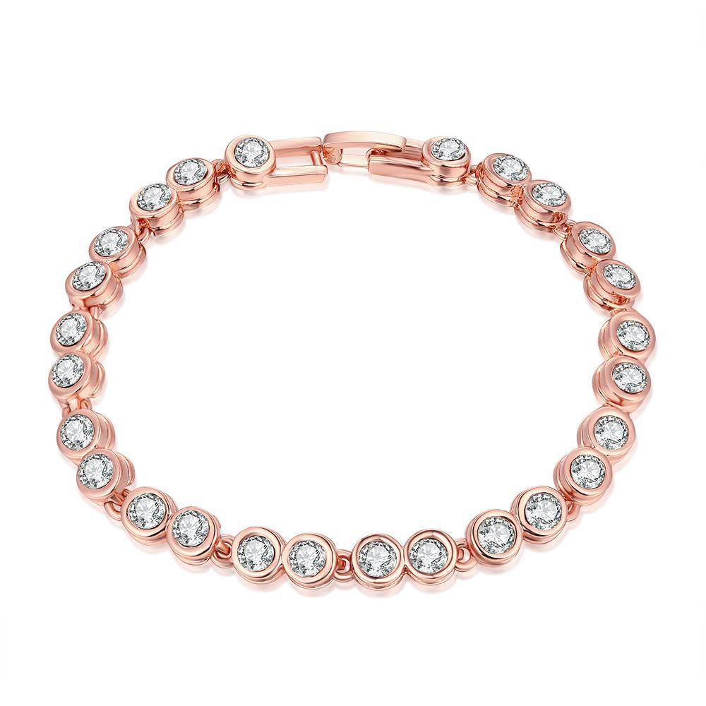 Vienna Jewelry Around the World 18K Rose Gold Plated Bracelet
