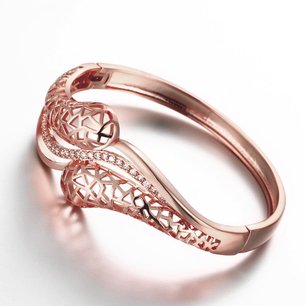 Vienna Jewelry Oramenti Circle Of Life Rose Gold Bangle