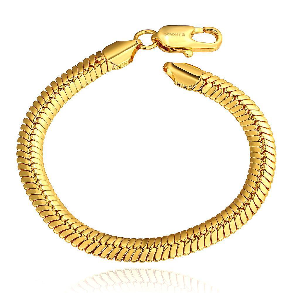 Vienna Jewelry 18K Gold Classic Italian Bracelet with Austrian Crystal Elements