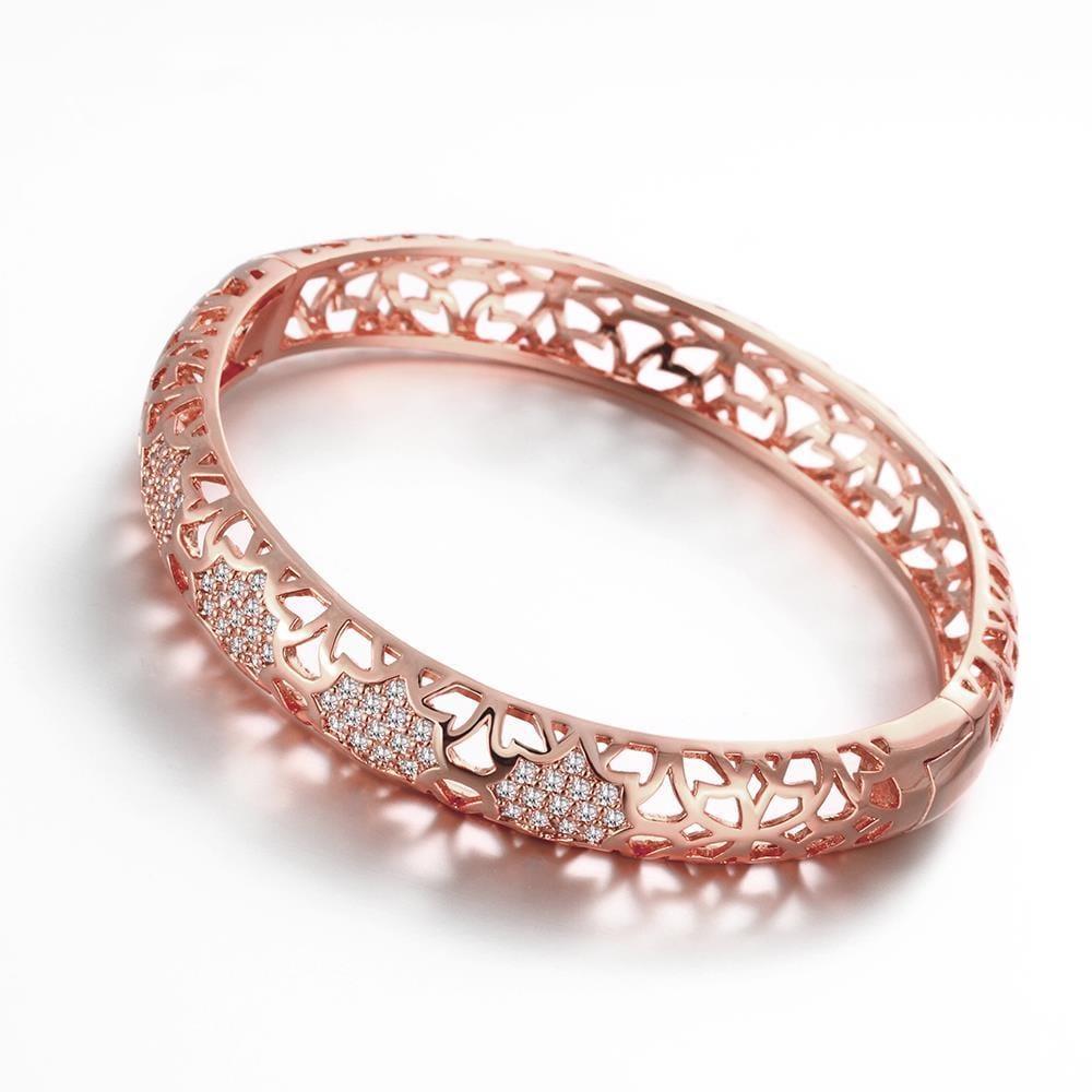 Vienna Jewelry Rose Gold Plated Dazzle Diva Bangle
