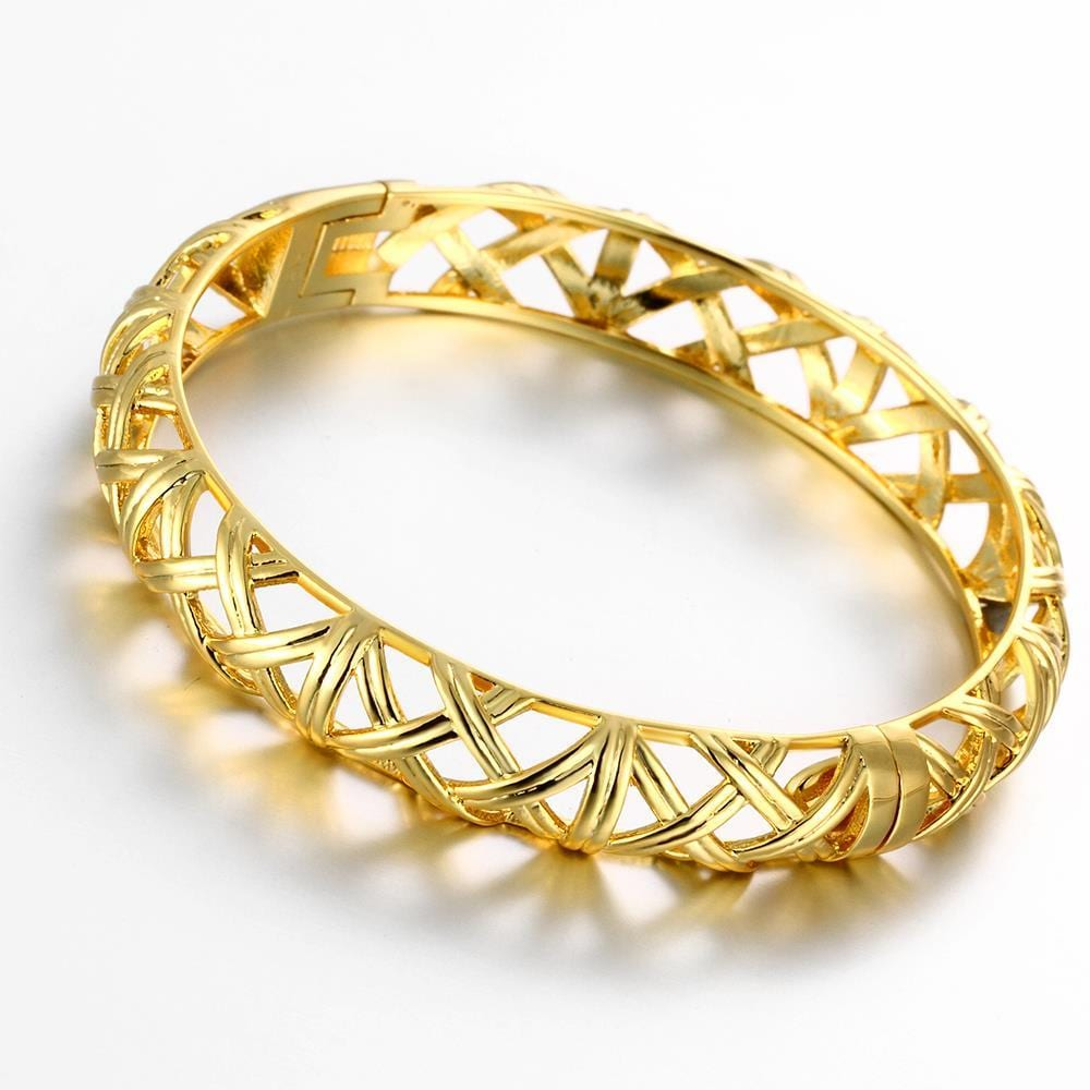Vienna Jewelry Gold Plated Forever Chic Modern Bangle