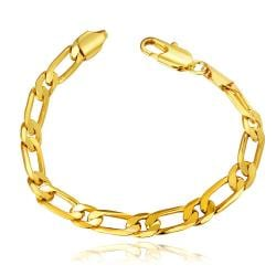 Vienna Jewelry 18K Gold Thin Classic Bracelet with Austrian Crystal Elements - Thumbnail 0