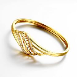 Vienna Jewelry Gold Plated Natural Tree Branch Bangle - Thumbnail 0