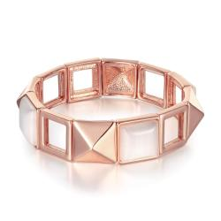 Vienna Jewelry 18K Gold Bangle with Natural Gems with Austrian Crystal Elements - Thumbnail 0