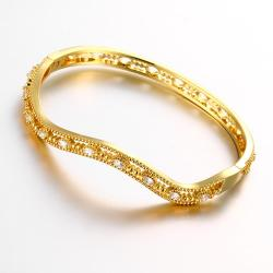 Vienna Jewelry Gold Plated Elegant Thin Lay Bangle - Thumbnail 0