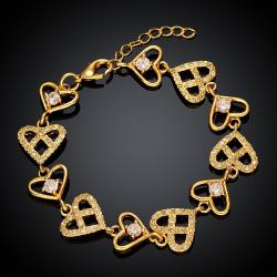 Vienna Jewelry Gold Plated Real Love is Everywhere Bracelet - Thumbnail 0