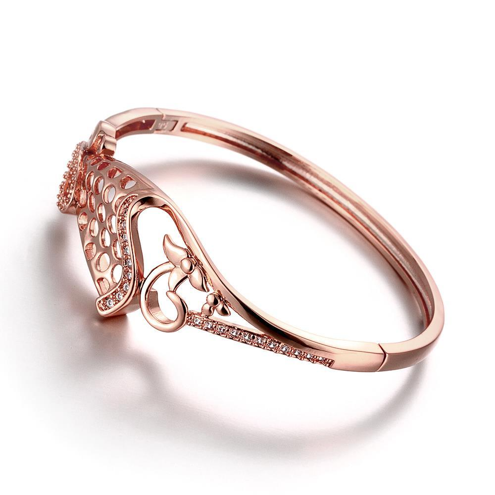 Vienna Jewelry Rose Gold Plated 50 Shades of Design Bangle