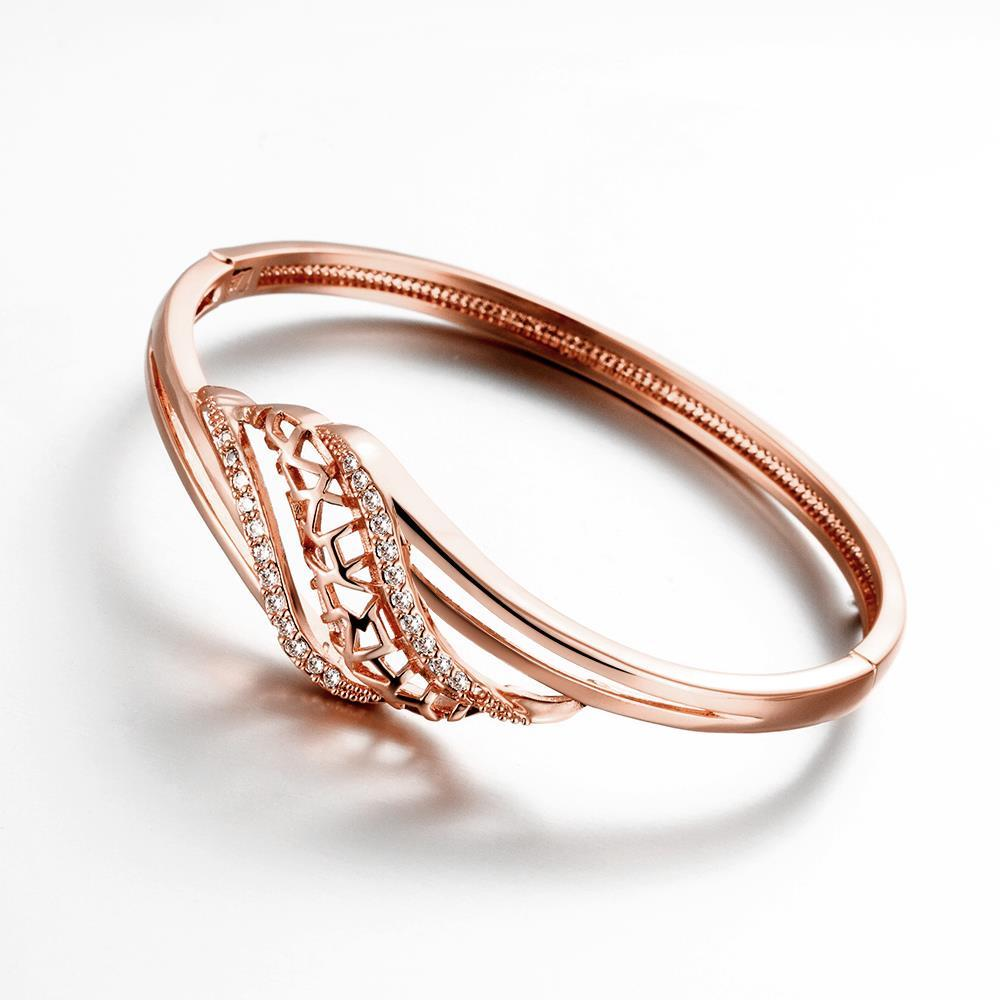 Vienna Jewelry Rose Gold Plated Natural Tree Branch Bangle