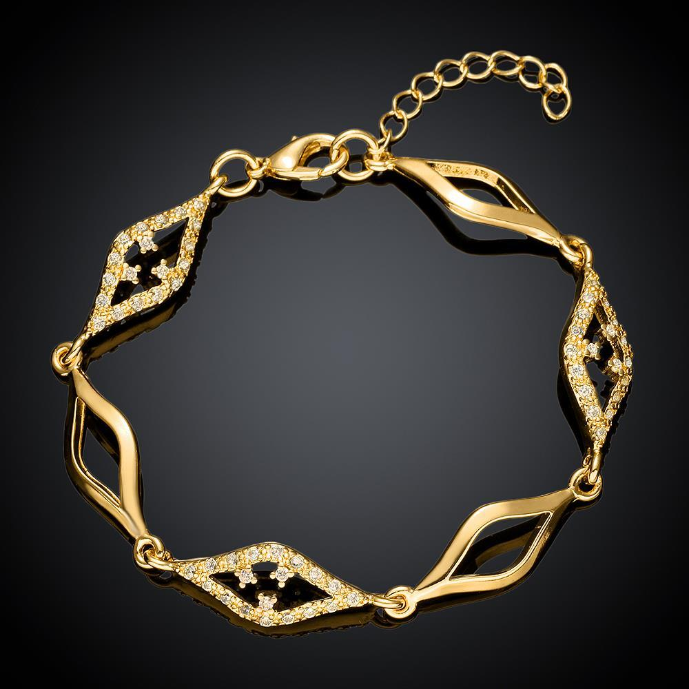 Vienna Jewelry Gold Plated Diamond Cut Bracelet