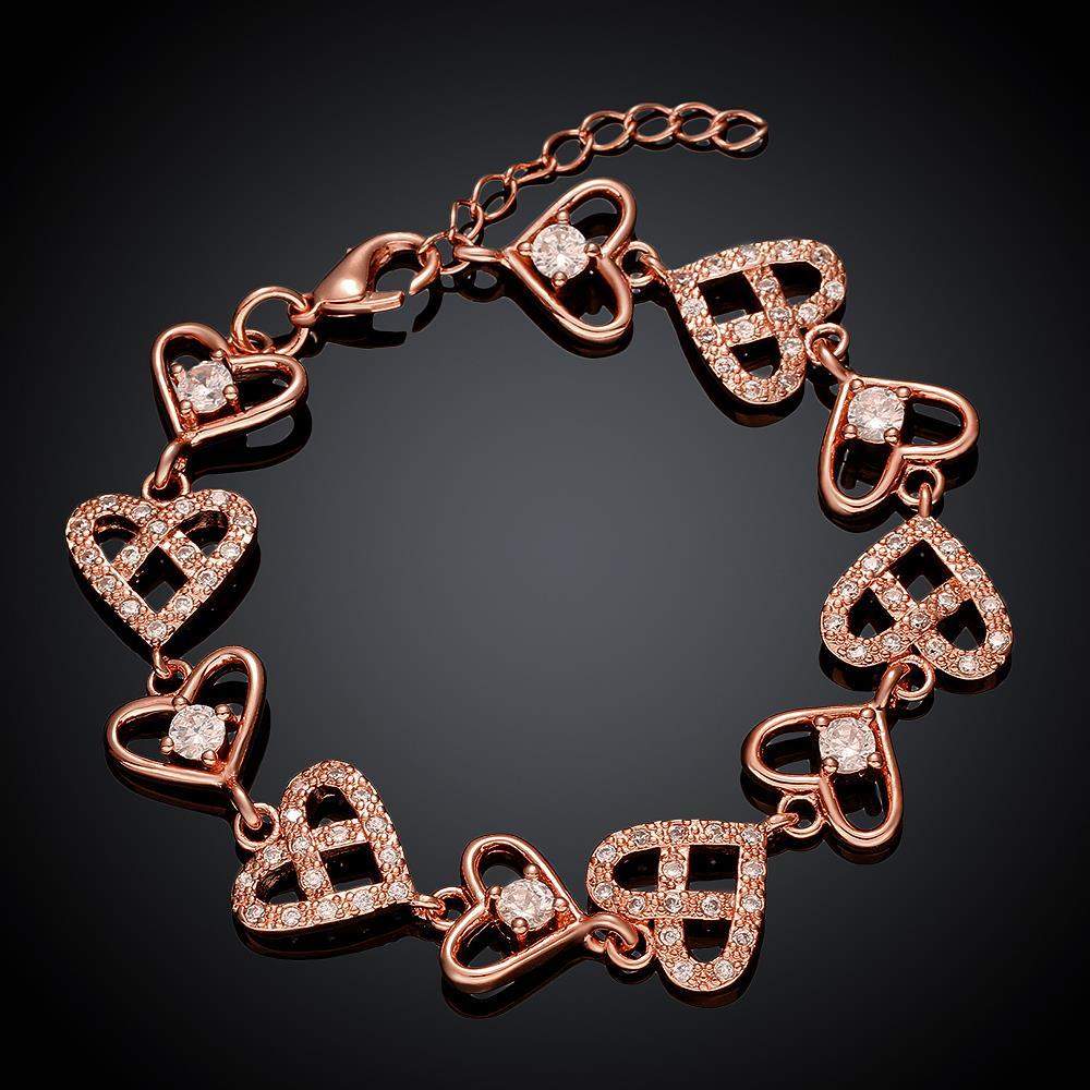 Vienna Jewelry Rose Gold Plated Real Love is Everywhere Bracelet