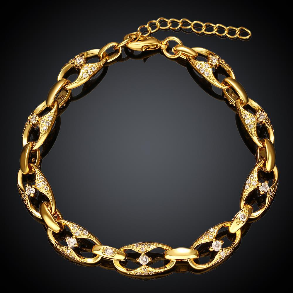 Vienna Jewelry Gold Plated Fifth Avenue Inspired Bracelet