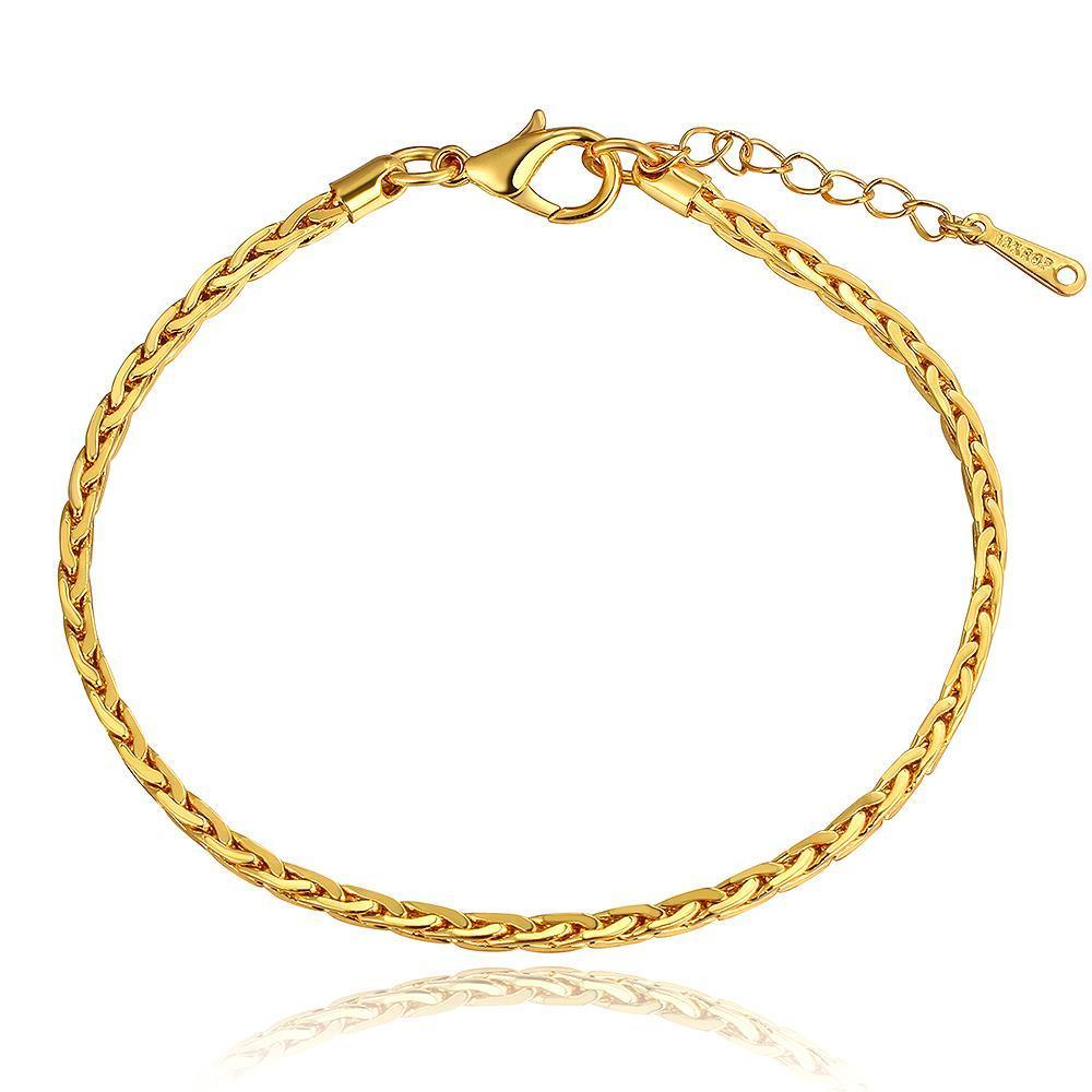 Vienna Jewelry 18K Gold Sleek Modern Design Bracelet with Austrian Crystal Elements