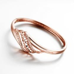Vienna Jewelry Rose Gold Plated Natural Tree Branch Bangle - Thumbnail 0