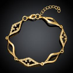 Vienna Jewelry Gold Plated Diamond Cut Bracelet - Thumbnail 0