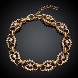 Vienna Jewelry Gold Plated Hippie Daisy Bracelet - Thumbnail 0