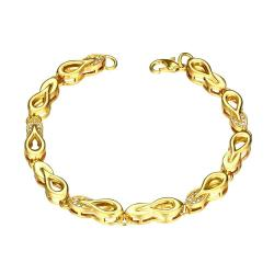 Vienna Jewelry Gold Plated Sisters Make the Best Friends Bracelet - Thumbnail 0