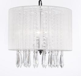 Crystal Chandelier Lighting Empress Crystal Chandelier Lighting With Large White