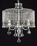 Contemporary 3 Light Plug In Crystal Chandelier Lighting With Crystal