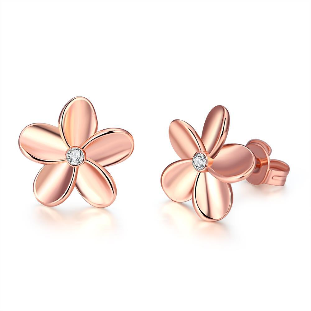 Vienna Jewelry 18K Gold Plated Flower Studded Earring