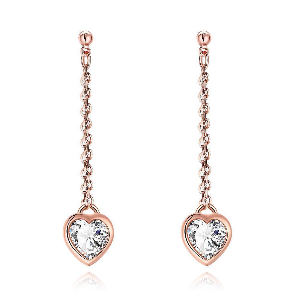 Vienna Jewelry Heart Drop White Topaz Stud Earrings