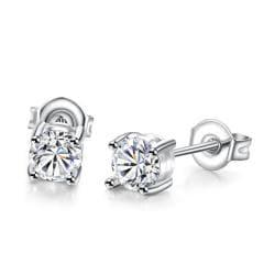 Vienna Jewelry 18K White Gold Plated Classic Simulated Diamond - Thumbnail 0