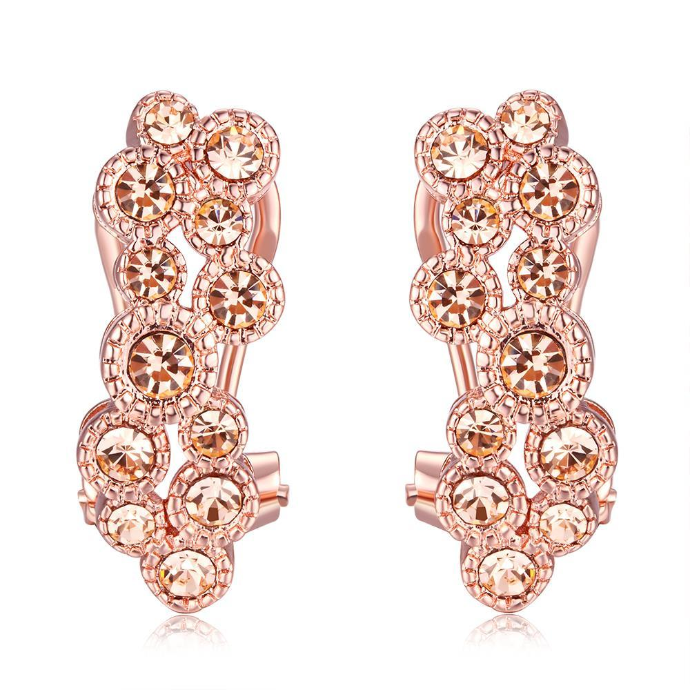 Vienna Jewelry Gold Plated Flower Clip Earrings